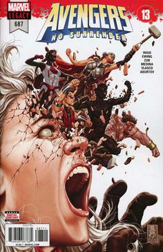 COMIC BOOK: Avengers # 687 (Vol VI). PUBLISHER: Marvel Comics. WRITER(S) Jim Zub, Al Ewing, Mark Waid. ARTIST: Paco Medina. COVER ARTIST: Mark Brooks. ORIGINAL RELEASE DATE: 4 / 4 / 2018. COVER PRICE: $3.99. RATING: Teen +.