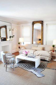 White Sofa Zebra Rug  Living Room  Pinterest  White Sofas Delectable White Living Room Interior Design Design Decoration