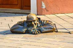 Clever street art in Bratislava, Slovakia