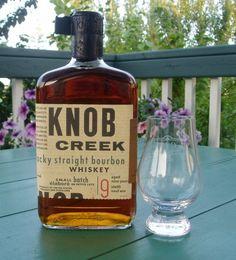 Knob Creek Kentucky Bourbon Whiskey-- straight on the rocks.