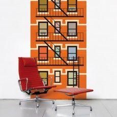 Papier peint Paris Vs New-York - NY