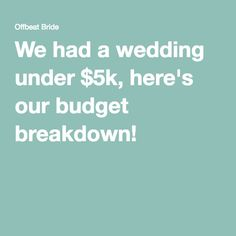 How To Create A Perfect (For You) Wedding Budget | Wedding budget ...