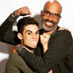 Cameron boyce and victor boyce Cameron Boyce, Victor Boyce, Black Actors, Sweet Guys, Marilyn Monroe Photos, Everything Changes, Tom Hanks, Now And Forever, Disney Channel