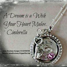 Love the Locket? Order yours today at JaimeBrockway.OrigamiOwl.com Designer Code 12293292. Dream, key, dangle, pink, heart, princess, crown, cinderella
