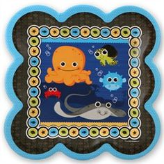 Under The Sea Critters - Dinner Plates - 8 Qty/Pack - Baby Shower Tableware