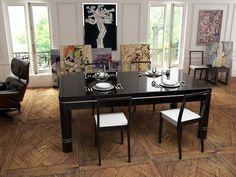 billard table design noir