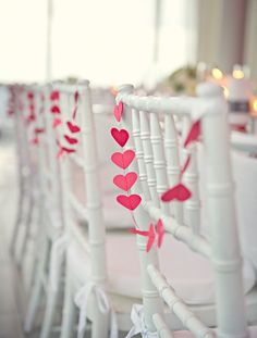 Heart garlands - have done this many times with garland from A Felt Affair - just tell Ellie how you'll use the garland and she can make to size