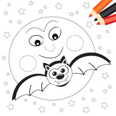 Halloween Song and Coloring Page for Halloween!