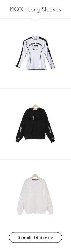 """""""KKXX : Long Sleeves"""" by kkomppul ❤ liked on Polyvore featuring tops, shirts, blouses, sheer top, white top, transparent tops, white sheer top, see through tops, see through blouse and transparent blouse"""