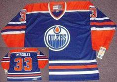 Edmonton Oilers Mens 33 MARTY McSORLEY Blue 1987 CCM Vintage Throwback Home NHL  Jersey f26db5051