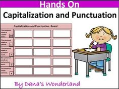 This product asks the students to sort and  fix sentences according to the capitalization and punctuation rules.Included:a capitalization and punctuation board15 sentences answer keypages for writing the correct sentencesSimply print and laminate the board and the sentences, cut out the sentences and put them in a bag.