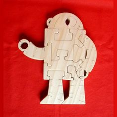 Robot - Childrens Wood Puzzle - Hand-Made - Child-Safe. $14.95