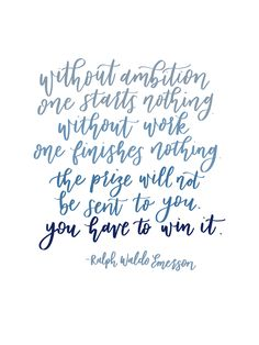 You Have to Win It Calligraphy Quote by Pirouette Paper http://www.pirouettepaper.com/