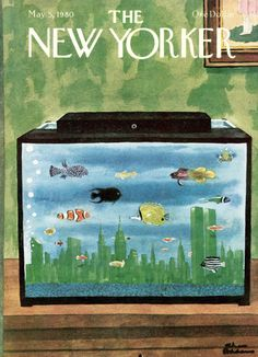 Charles Addams : Cover art for The New Yorker 2881 - 5 May 1980