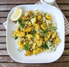 Roasted cauliflower with spices, quinoa and fresh herbs/ myfoodpassion.net