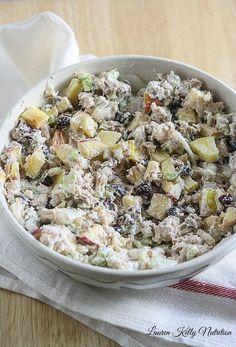 Healthy Chicken Salad made with Greek Yogurt @PacificFoods #NourishEveryBody