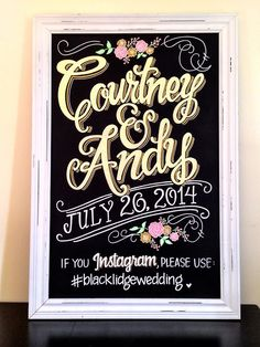 Love this amazing sign for the entrance of the wedding!