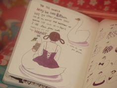 joli cahier rose