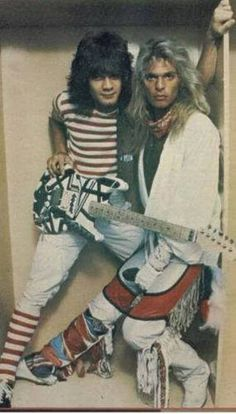 Eddie Van Halen & David Lee Roth- I wanted my very first pin to be something really ridiculous. Mission accomplished.