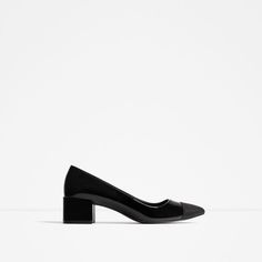 ZARA - WOMAN - MID-HEEL SHOES WITH CONTRASTING TOE CAP