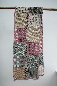 Even though this is obviously crocheted and knitted, I have a small loom that would make a great scarf if the woven squares were combined with crocheted and knitted squares *yes!*  Milena Silvano - beautiful!