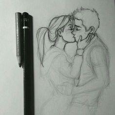 Beso con pasión dibujo çizim fikirleri, çizim ipuçları y çizilecek şeyler. Drawings Of People Kissing, Kissing Drawing, People Drawings, Pencil Art Drawings, Cartoon Drawings, Drawing Sketches, Drawing Ideas, Sketching, Relationship Drawings
