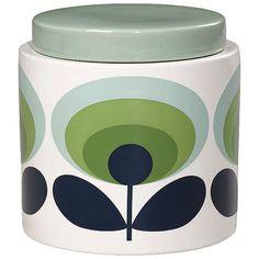 BuyOrla Kiely 70s Retro Flower Kitchen Storage Jar, 1L, Green Online at johnlewis.com