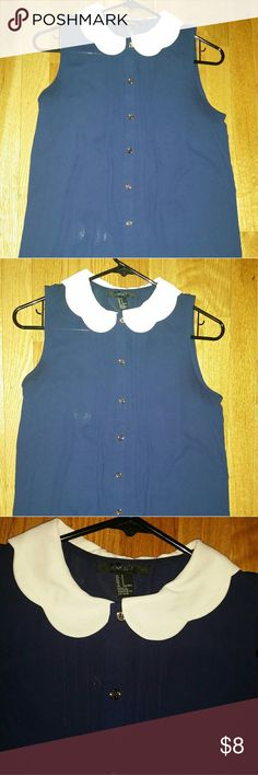 Cute long peter pan collar shirt Cute top in great condition, great for work or play. Tops Blouses