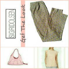 """★LABOR DAY SALE★SIGRED OLSEN STRAIGHT LEGPANTS NWOT.  SIGRED OLSEN -*  Cute Pink & Assorted. Color Scallop Design Pants                                  *  Straight Leg                                  *  84% Cotton / 11% Nylon / 5% SPANDEX                                  *  Has Some Stretch To It                                  *  Waist 15"""" / Inseam 32""""                                  *  Size 8 (Other items in photo not included but available in my closet.) Sigrid Olsen Pants Straight…"""