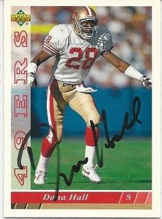 1993, Dana Hall, San Francisco 49ers, Signed, Autographed, Upper Deck Football Card, Card # 116, a COA Will Be Included
