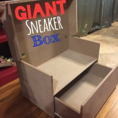 Giant sneaker storage box, perfect for adult or children sneakers, shoes, toys or clothes!