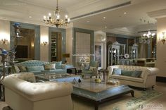 French high-end fashion living room pictures