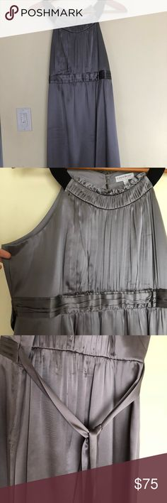 Maternity dress In excellent condition wore it once for my cousin wedding. Grey color, elegant soft silk material, sleeveless! A Pea in the Pod Dresses Midi