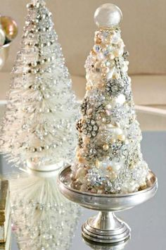 Cover a tree shaped piece of foam with vintage costume jewelry for a one-of-a-kind DIY Christmas tree