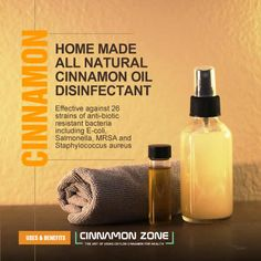 Try this beautiful home made Ceylon Cinnamon Oil disinfectant for your home, car and work place. The perfect alternative to highly toxic commercial chemical spray that may affect your health. Effective against 26 strains of anti-biotic resistant bacteria. Cinnamon Uses, Cinnamon Leaf Oil, Ceylon Cinnamon, Massage Oil, Diy Gifts, Essential Oils, Alternative, Commercial, Homemade