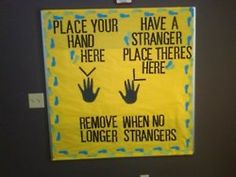 "Cute bulletin board idea. (Disregard incorrect usage of ""their"".)"