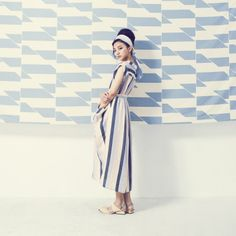 Stripe long dress (multicolored)
