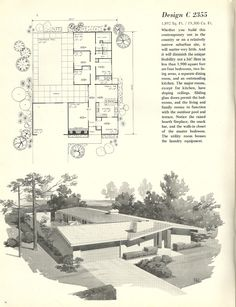 mid century modern house plans | mid century modern ranch - the