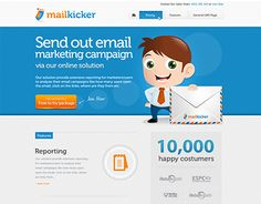 """Check out new work on my @Behance portfolio: """"Website design for mailkicker"""" http://on.be.net/1wN611T"""