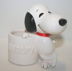 Vintage Snoopy Snoopy Toothpick Holder by PineCottageVintage