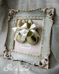 Turn vintage clothing into a family history frame.