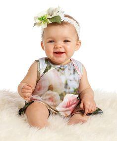 White Caroline Romper - Infant #zulily #zulilyfinds