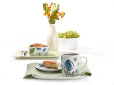 Set of 4 Carina Floral Bistro Mugs by BIA Cordon Bleu by