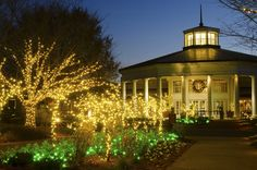 The Visitor Pavilion during Holidays at the Garden 2013, at Daniel Stowe Botanical Garden.