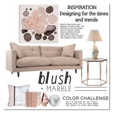 """""""Blush + Marble"""" by cruzeirodotejo ❤ liked on Polyvore featuring interior, interiors, interior design, home, home decor, interior decorating, Oliver Gal Artist Co., Bloomingville, Karlsson and Bunny Williams Home"""