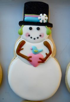 Another cute snowman cookie