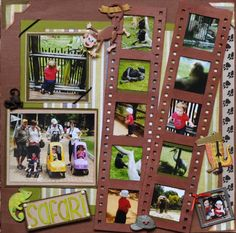 Zoo Layout - Scrapbook.com - love the pictures in the film strips.