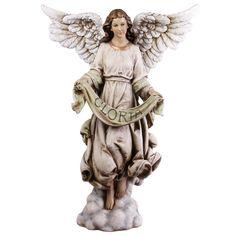 Painted Gloria Angel Nativity Figurine