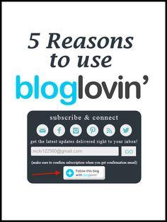 reasons to use bloglovin