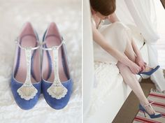 Blue Wedding Shoes, A Short Dress And Tipis For A Humanist Celebration On The Beach